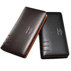 Foto de billetera larga formal ejecutiva mostrando colores de presentación