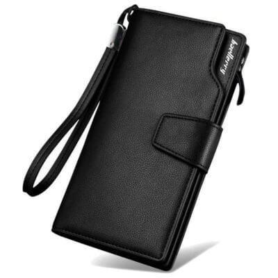 9d4775f9 Foto de presentación de billetera larga ejecutiva tarjetero de cuero PU en  color negro