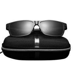 Foto que muestra los lentes de sol polarizados HD con protección UV400 modelo LN002 mostrando estuche para guardarlo