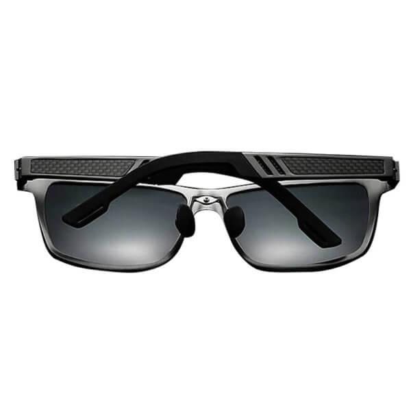 Foto que muestra los lentes de sol polarizados HD con protección UV400, modelo LN002, vistos desde atrás.